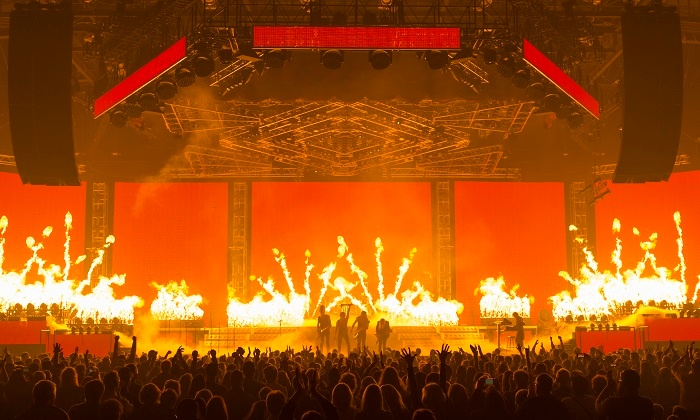 Pyrotechnics Flame Trans-Siberian Orchestra