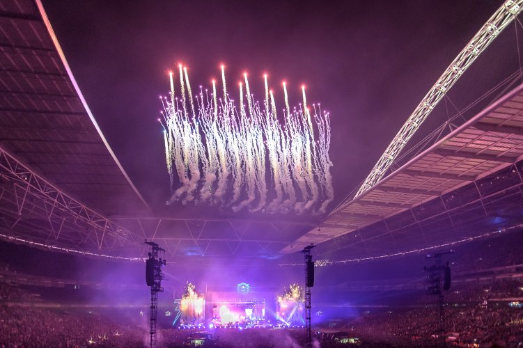 Pyrotechnics The Killers Wembley Stadium