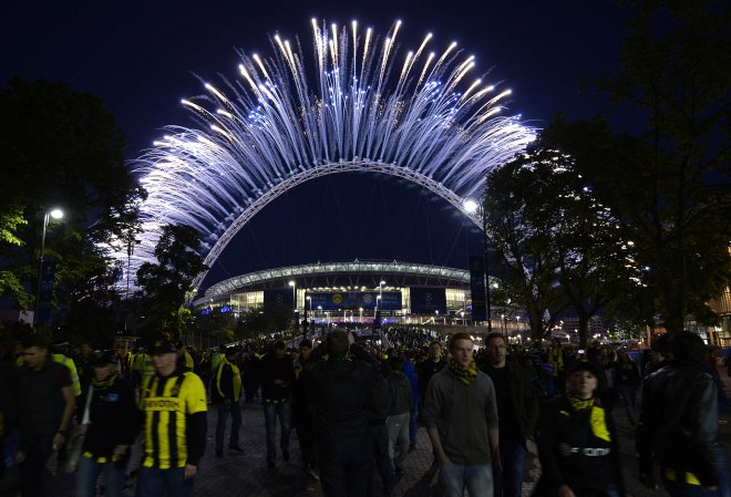 Pyrotechnics Wembley Stadium Champions League Final 2013