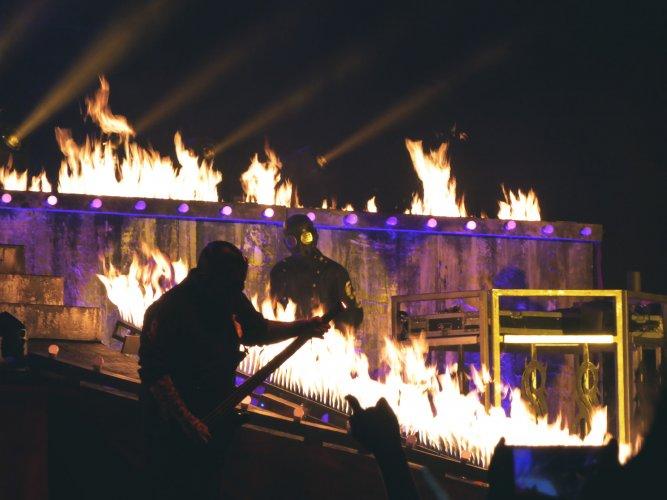 Pyrotechnics Flame Slipknot